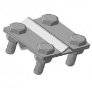 Зажим крестовой с 4 отверстиями S4, S4-20/Zn оцынкованный