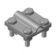 Зажим универсальный S, S557/Cu медный, прут-полоса