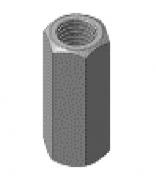 Соединитель для шпилек заземления резьбовых GR,GR-16Mi омедненный