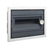 Щиток встраиваемый PXF 12T, с прозрачной плоской дверцей 12mod(1x12), IP40