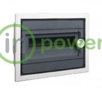 Щиток встраиваемый PXF 24T, с прозрачной плоской дверцей 24mod(2x12), IP40