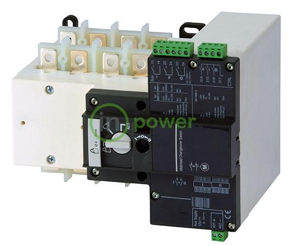 Переключатель нагрузки с мотор приводом MLBS 100A 4p CO 230V AC