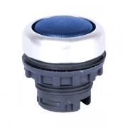 Кнопка плоская синяя с самовозвратом Ex9P1 F b