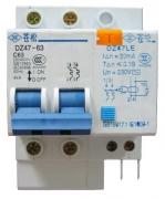 Дифференциальный автомат DZ47LE-63 1P+N C50A 30mA AC