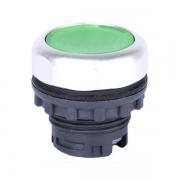 Кнопка плоская зелёная с самовозвратом и подсветкой Ex9P1 FI g