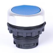 Кнопка плоская синяя с самовозвратом и подсветкой Ex9P1 FI b