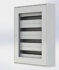 Щиток настенный MFS3 99T, стеклянная дверца, 99mod (3x33), IP40
