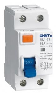 Дифференциальный выключатель NL1-63 6kA 2P 25A 30mA AC