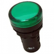 Индикатор зелёный NP16-22DS/2 230В AC
