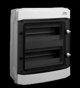 Щиток настенный PHS 24T, с прозрачной дверцей 24mod(2x12), IP65